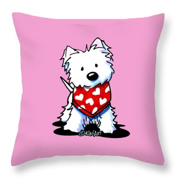 Valentine Westie Throw Pillow