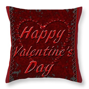 Throw Pillow featuring the digital art Valentine3 by Michelle Audas