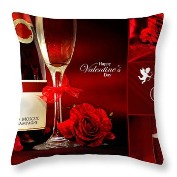 Valentine's Collage Photo Throw Pillow