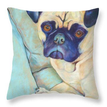 Valentino Throw Pillow by Pat Saunders-White
