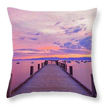Valhalla Pier Sunrise By Brad Scott Throw Pillow