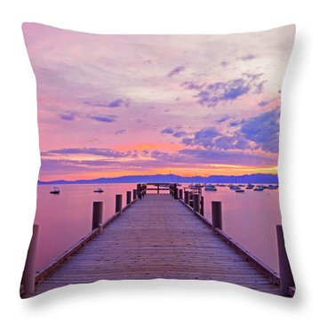 Valhalla Pier Sunrise By Brad Scott Throw Pillow