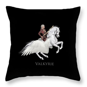 Throw Pillow featuring the painting Valkyrie by Valerie Anne Kelly