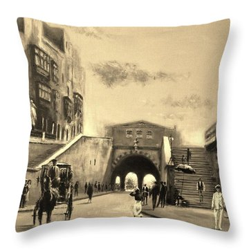 Valletta  Entrance  1941 Throw Pillow