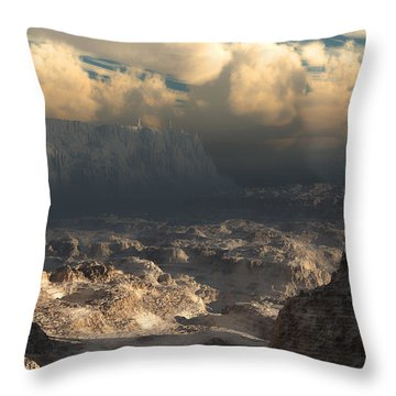 Valley At Dusk Throw Pillow