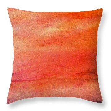Valley At Sunset Throw Pillow