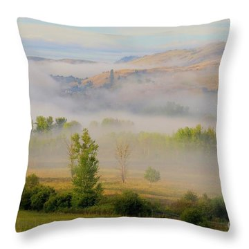 Valley Blanket Throw Pillow