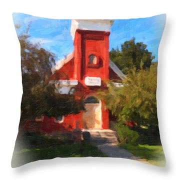 Valley Chapel Throw Pillow