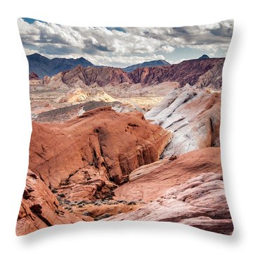 Throw Pillow featuring the photograph Valley Of Fire Expanse by Jason Moynihan