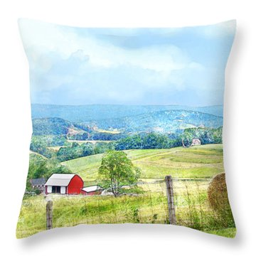 Valley Farm Throw Pillow