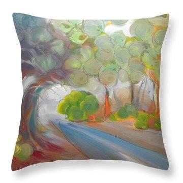 Valley Fog 1 Throw Pillow