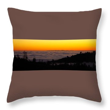 Valley Fog Twilight Throw Pillow