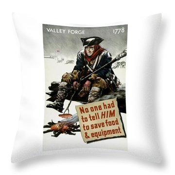 Valley Forge Soldier - Conservation Propaganda Throw Pillow by War Is Hell Store