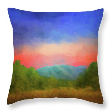 Valley In The Cove Throw Pillow