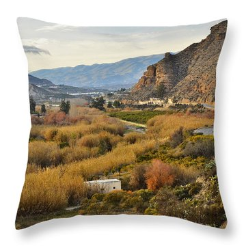 Valley Of Andalusia Throw Pillow by Marek Stepan