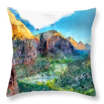 Valley Of Colours. Throw Pillow