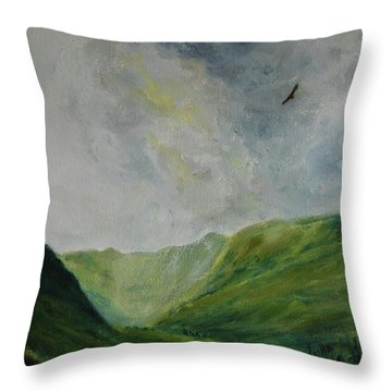 Valley Of Eagles Throw Pillow