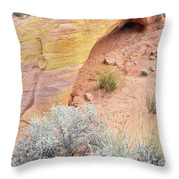 Throw Pillow featuring the photograph Valley Of Fire Arch Of Color by Ray Mathis