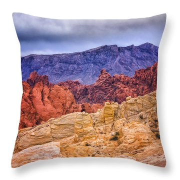 Throw Pillow featuring the photograph Valley Of Fire by Janis Knight