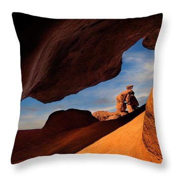 Valley Of Fire Look Through Throw Pillow by Gary Warnimont