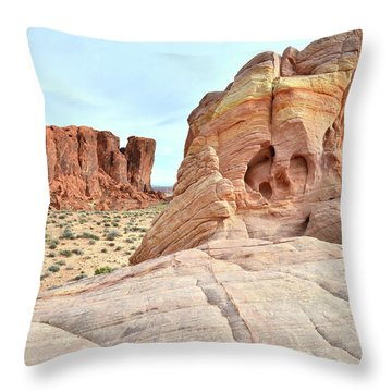Throw Pillow featuring the photograph Valley Of Fire North by Ray Mathis