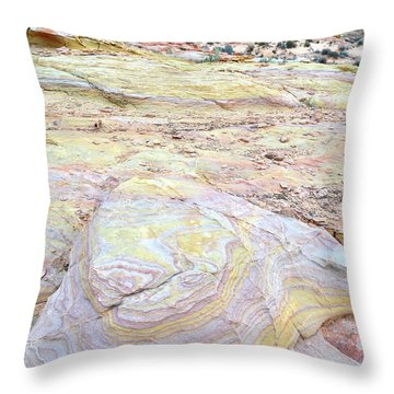 Throw Pillow featuring the photograph Valley Of Fire Pastels by Ray Mathis