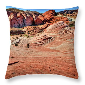 Valley Of Fire State Park Nevada Throw Pillow by James Hammond