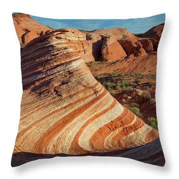 Valley Of Fire Xiv Throw Pillow