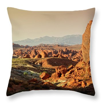 Valley Of Fire Xxiii Throw Pillow