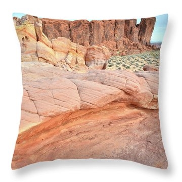 Throw Pillow featuring the photograph Valley Of Fire's North End by Ray Mathis