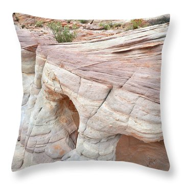 Throw Pillow featuring the photograph Valley Of Fire's Wash 3 by Ray Mathis
