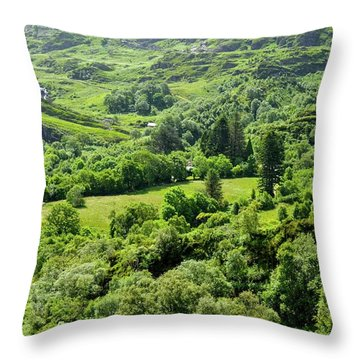 Valley Of Green Throw Pillow