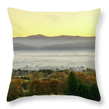 Valley Of Mist Throw Pillow