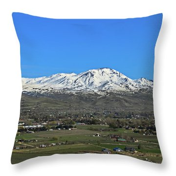 Valley Of Plenty Throw Pillow by Robert Bales