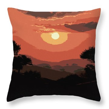 Valley Of Sun  Throw Pillow by Andrea Mazzocchetti