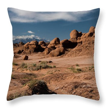 Valley Of The Goblins Throw Pillow