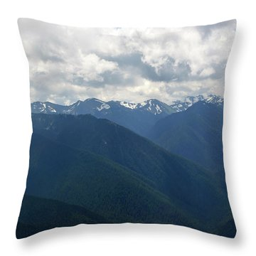 Throw Pillow featuring the photograph Valley Of The Olympics by Tikvah's Hope
