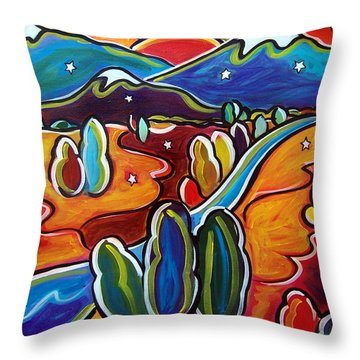 Valley Of The Stars Throw Pillow