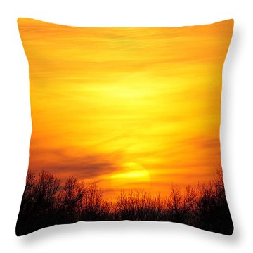 Valley Of The Sun Throw Pillow by Frozen in Time Fine Art Photography