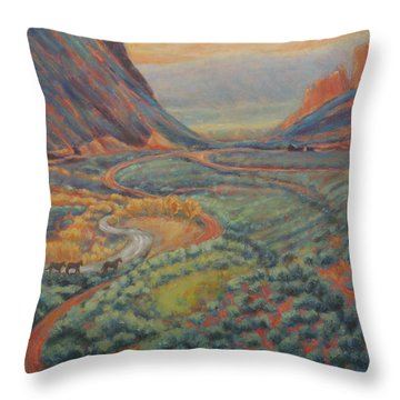 Valley Passage Throw Pillow