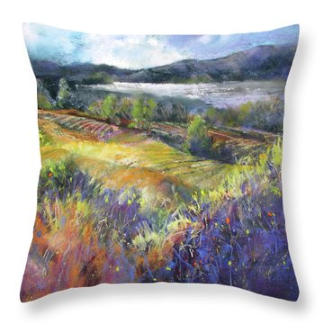 Valley View Throw Pillow by Rae Andrews