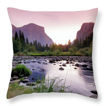 Valley View Sunrise Throw Pillow