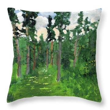 Valley Walk Throw Pillow