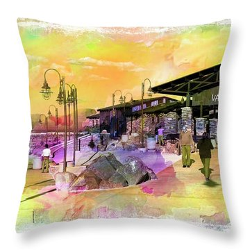 Valley Wells California Throw Pillow