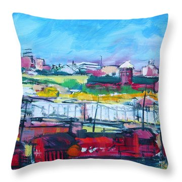 Valley Yard Throw Pillow