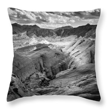 Valley Of Fire Expanse Throw Pillow