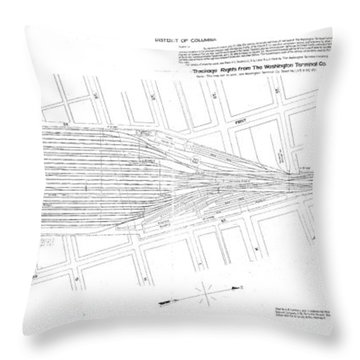 Valuation Map Washington Union Station Throw Pillow