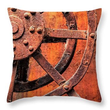 Valve Control Sloss Throw Pillow by Phillip Burrow
