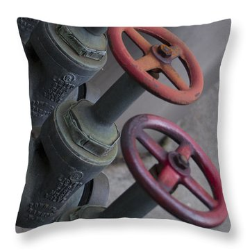 Valves Throw Pillow by Henri Irizarri