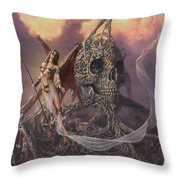 Vampis Lair Throw Pillow